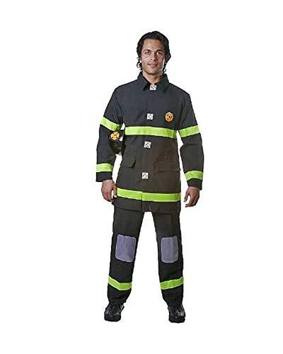 Dress Up America Costume de pompier noir adulte , taille grande (taille- 112-122 , hauteur- 168-173 cm , entrejambe- 79-84 cm) , Noir , Large