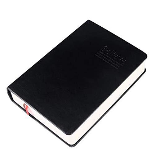 Jaimenalin Cuaderno con Forro de Papel Grueso Retro Bloc de Notas de Cuero Diario de la Biblia Libro de Diarios Agenda Planificador Escuela Oficina PapeleríA, Blanco