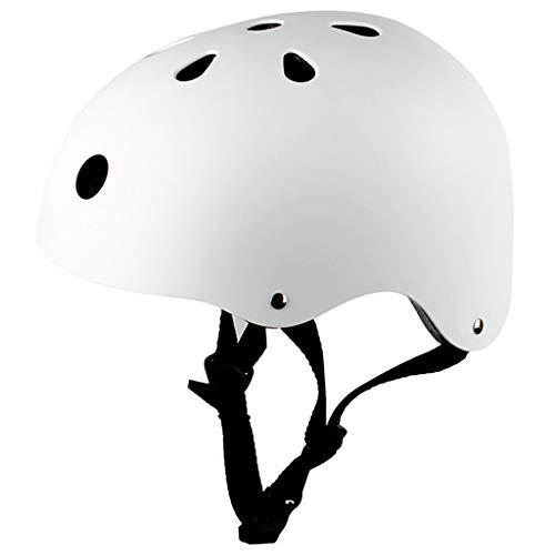 HONGLONG Casque de vélo Femmes, Casques vélo en Fibre de Carbone, Casques Sports de Plein air, Vélo Skateboards Road, Casques d'équitation Coffre-Fort,Blanc