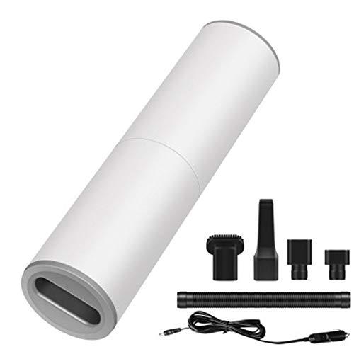 Mini Aspirador de Coche Aspirador de Coche Portátil Pequeño de Mano 120W (Blanco)