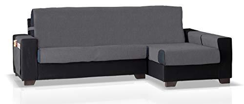 JM Textil Schoner für Ecksofa mit GEA Ottomane Rechts, Grösse Normal (245 cm.), Farbe Blei-Grau