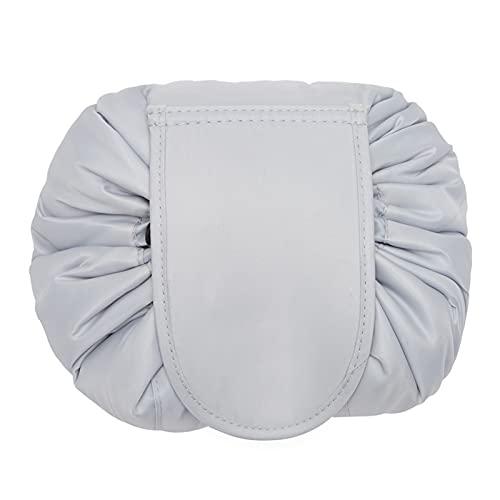 Bolsa de maquillaje Mujeres cosméticos bolsa de viaje organizador de almacenamiento femenino maquillaje bolsa portátil impermeable aseo estuche de belleza ( Color : C Light Grey , Size : 23x17cm )