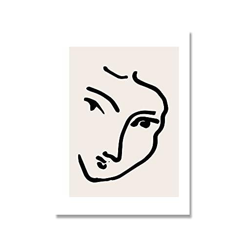 Cartel de geometría de curva abstracta, carteles e impresiones de estilo colorido de Matisse, artista de pared, casa, lienzo sin marco, pintura A6 70x100cm