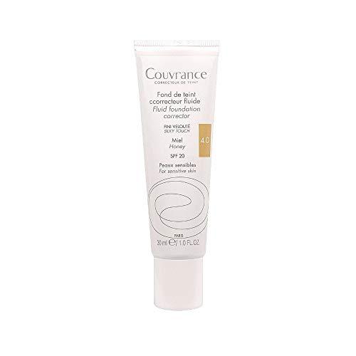 AVENE Couvrance Maquillaje Fluido, SPF20, color 4.0, Miel, 30 ml