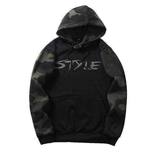 Hoodies Herren Camouflage Sweatshirt Hooded Tops Streetwear Herren Hoodie Hip Hop Print Militär Hoodie EU Größe