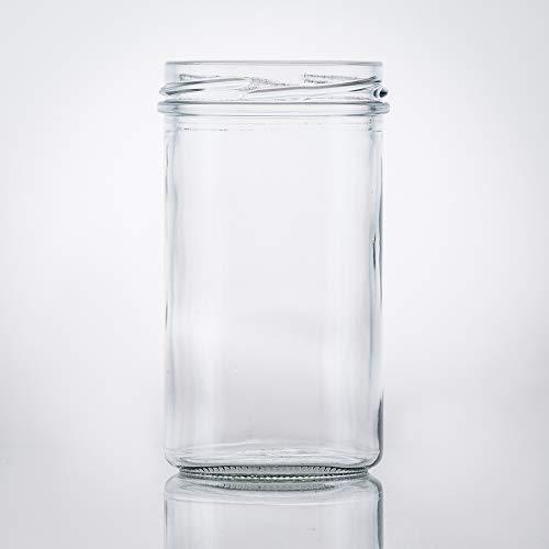 Flaschenbauer- 21x Sturzgläser 277ml inkl. goldene Twist Off Verschlüsse zum Einmachen von Suppen, Babynahrung oder zur Aufbewahrung von Tee und Kräuter