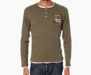 Harry Kayn-T-Shirt Manches Longues Homme CEGRANPA- Kaki-XXL