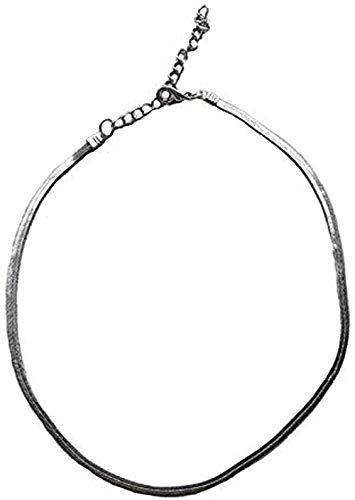Liuqingzhou Co.,ltd Collar Collar Cadena Corta De Hueso De Serpiente Collar Neklace para Mujer