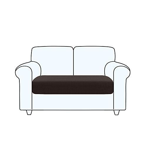 TAOCOCO Fundas de cojín para sofá,Protector de cojín de Asiento de Tela de poliéster de Alta Elasticidad (marrón Chocolate, 2 Asientos)