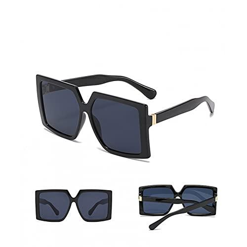 SXRAI Gafas de Sol cuadradas para Mujer, Gafas de Sol de Gran tamaño a la Moda, Gafas de Exterior para Mujer y Hombre, Gafas Uv400,C1