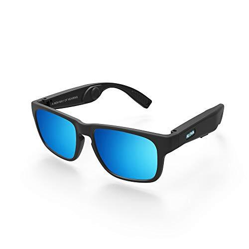 Conduzione ossea Scolorimento Occhiali da Sole polarizzati Cuffie Bluetooth 5.0 Occhiali Smart Touch Apparecchi acustici Wireless Impermeabili Lettore Musicale MP3, per Esterno, Ciclismo, Guida