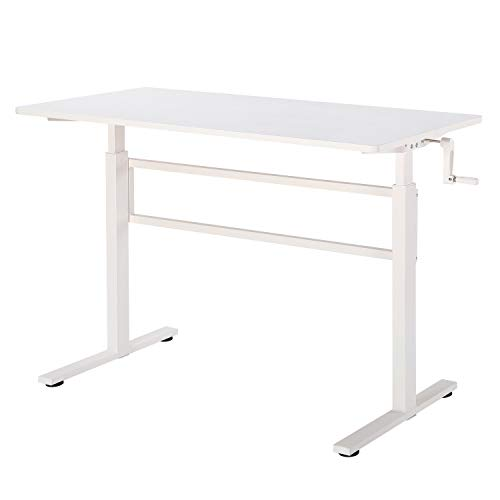 UNICOO - Crank Adjustable Height Standing Desk, Adjustable Sit to Stand up Desk,Home Office Computer...