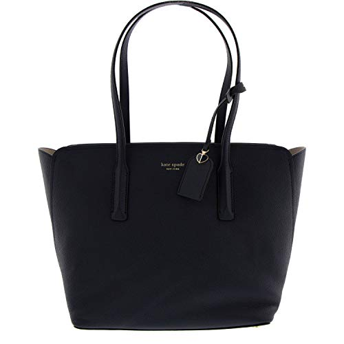 Kate Spade Margaux Ladies Large Navy Blue Leather Tote Bag PXRUA229429