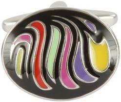 DLC Oval Retro Emaille Farben Manschettenknöpfe