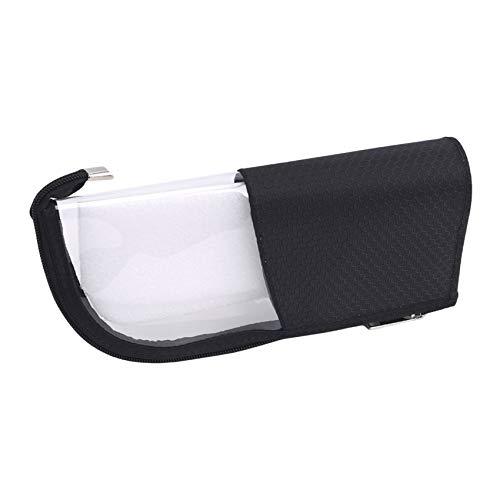 Sawyerda - Bolsa de viaje impermeable para vacaciones, viajes, baño, práctica y a la moda, bolsas de aseo transparentes, Black (Negro) - Sawyerda