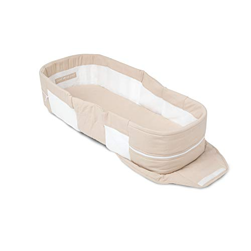 Product Image of the Baby Delight Snuggle Nest Organic Portable Infant Lounger | Organic Oat | Unique...