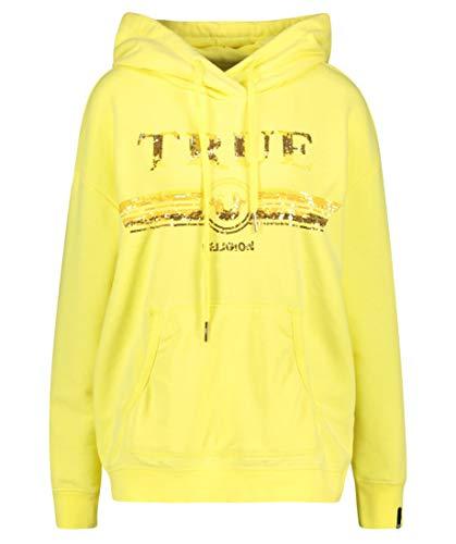 True Religion Damen Hoodie Gelb S