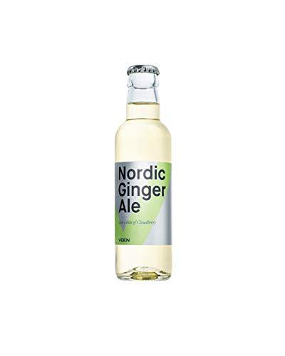 VEEN Nordic Ginger Ale – 24x 200ml - süße Limonade in Glasflaschen, Club Soda aus Finnland für hochwertigen Gin und Wodka, Longdrink Mix-Getränk aus Quellwasser