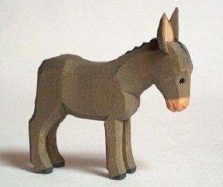 Lotte Sievers-Hahn Esel 9,0 cm mit Baumwollbeutel Krippenfigur …