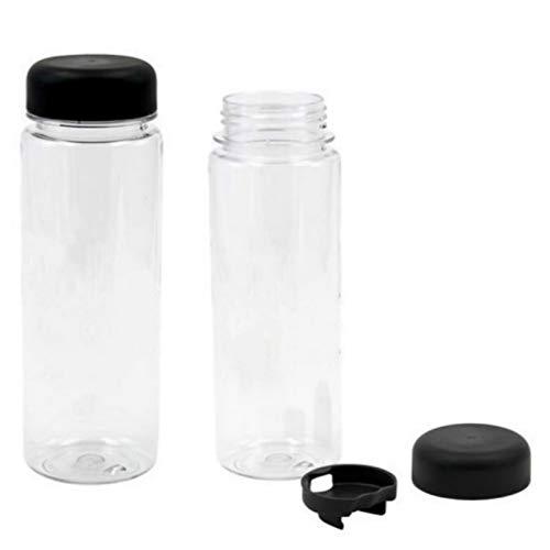 QFERW1 Stück 500 ml Kunststoff Sport klar Obst Flasche Zitronensaft leicht trinkbar Wasser haben englische Buchstaben-in Wasserflaschen von Home & Garden, weiß