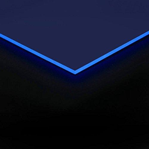 3mm Acrylglas Platte 50x25 cm blau fluoreszierend