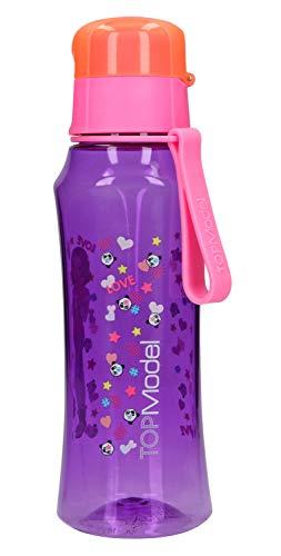 Depesche 10535 Trinkflasche aus Kunststoff, frei von BPA und Phthalaten, ca. 500 ml, TOPModel, lila
