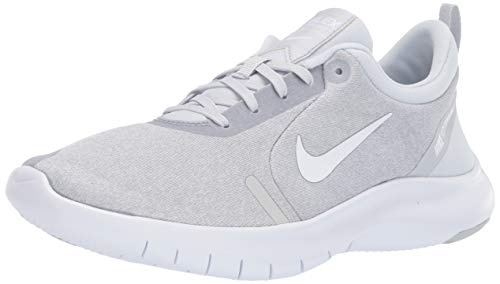 Nike Women's Flex Experience Run 8 Shoe, White/White - Pure Platinum - Wolf Grey, 9 Regular US