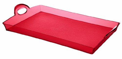 Guzzini Vassoio Happy Hour, Rosso Chiaro, 54 x 33.5 x h8.7 cm