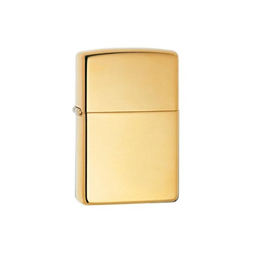 Zippo Zippo Benzinfeuerzeug 254 polished brass messing poliert + mit Gravur (Diamant, beidseitig) Mit Gravur (Diamant, Beidseitig)