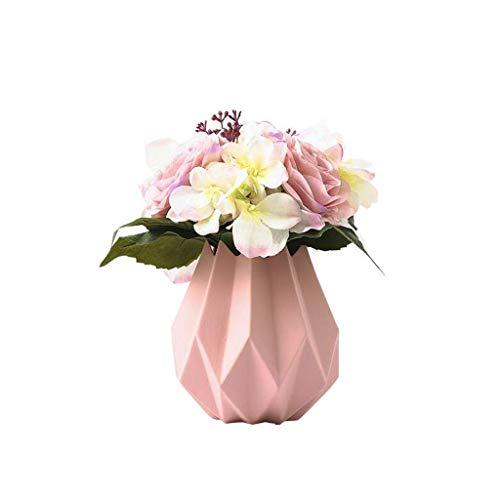 ZYING Remache Decoración de florero de gres angulado Moderno, Florero de cerámica Blanca Decoración de hogar Moderna Florero de Porcelana Florero Diseño de Origami