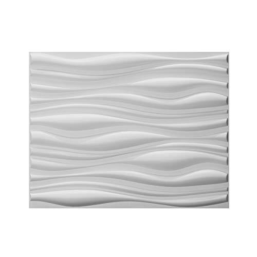 Pannell 3D decorativi parete design 62X80CM In Fibra Di Bamboo 100% Nat. mod. INREDA-BIT (1 Mq)