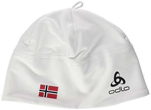 Odlo Hat Polyknit Fan Unisex Warm Mütze, Weiß (White-Norwegian Flag), Einheitsgröße