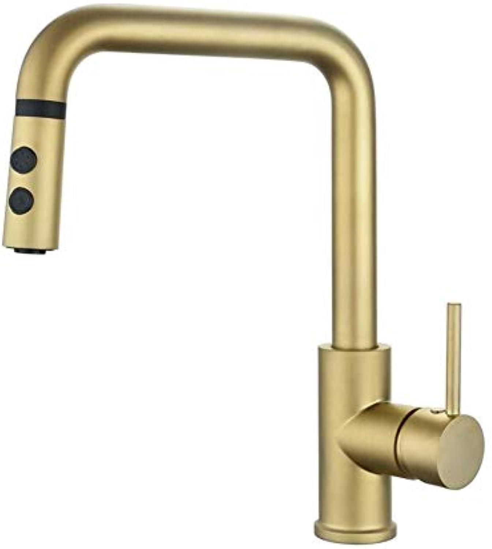 Verchromte Einstellbare Temperaturempfindliche Led-Wasserhahnchampagner-Bronze-Einhandgriff Mit Pull-Down-Sprühgert Pfefferminze