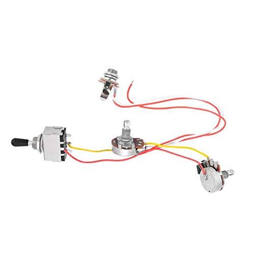 Arnés de cableado profesional de palanca de 3 vías para guitarra eléctrica para guitarra eléctrica con 2 Humbuckers