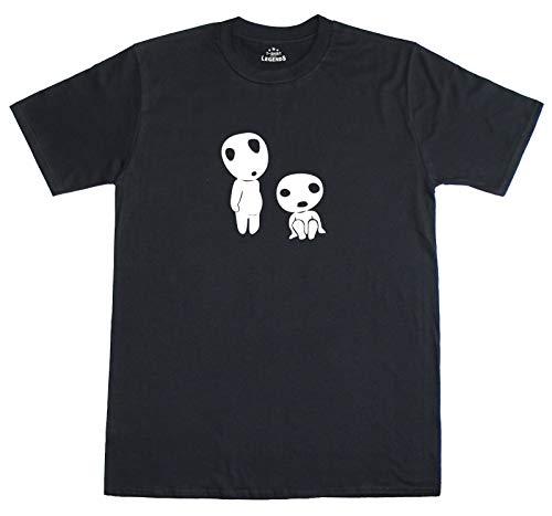 Kodama Couple Men's Cotton T-Shirt Crew Neck Tee Short Sleeve Summer O-Neck Top Letter Print Soft Fashion Business Sport Leisure Black White