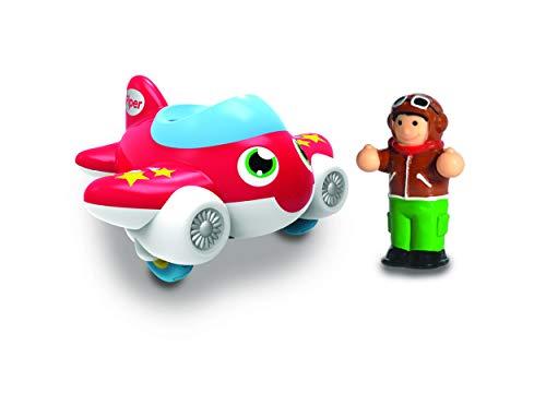 WOW Toys 10411 Jet Plane Piper Kleinkindspielzeug für Kinder von 1-5 Jahre, Red/Blue/White/Yellow