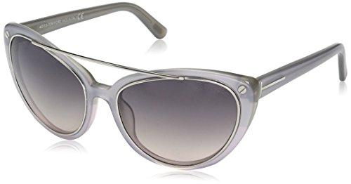 Tom Ford Gafas de Sol FT-EDITA 0384S-80B (58 mm) Transparente