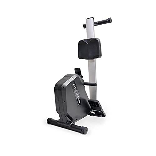 SportPlus COMPACT Rudergerät für zuhause mit Trainingscomputer & 8 Stufen (Magnetwiderstand), klappbar & leise mit bequemem Sitz & Tablethalterung, bis 120 kg