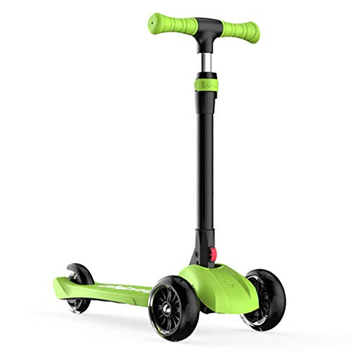 Buy Discount Scooter NLIAN- 3 Wheels for Children - Flashing Wheels Foldable Design 69.5-80cm 4 Adju...