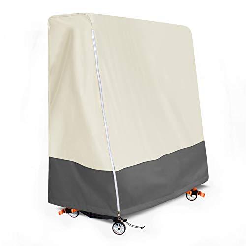 Aaaspark Abdeckung für Tischtennisplatte, Wasserdicht, Winddicht, UV-Beständiges, 600D Heavy-Duty Wetterfest Tischtennisplatte Abdeckung Outdoor (165×70×185cm)