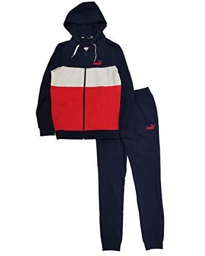 PUMA Colorblock Suit B Tuta, Rosso, 8 anni Unisex-Bimbi