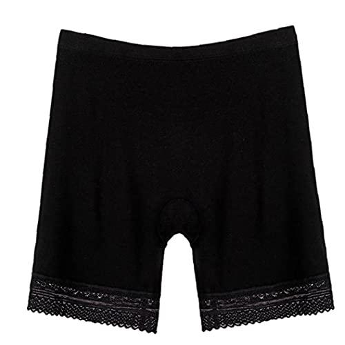 Ruluti Pantalones Cortos con Seguridad Durante Verano Mujeres De Los Bolsillos De La Ropa Interior Atractiva Modal Pierna Antideslizantes Bolsillo De Los Pantalones Cortos De Seguridad (tamaño XL)