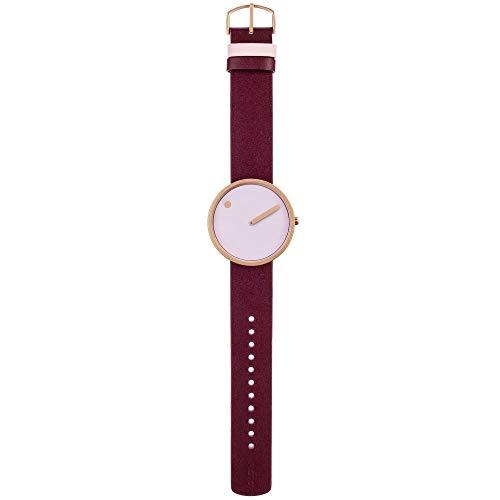 Rosendahl Unisex-Armbanduhr Picto Analog Quarz Leder 43382