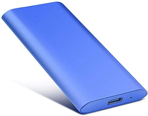 2TB External Hard Drive, Portable Hard Drive External Type-C/USB 2.0 HDD for Mac Laptop PC(2TB-blue)