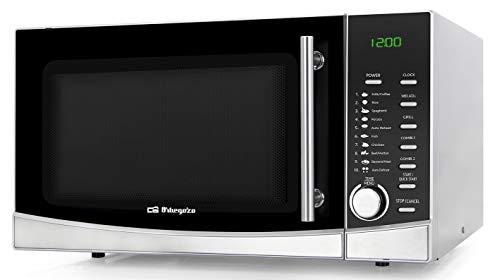 Orbegozo MIG 3420 - Microondas con grill, 34 litros, 9 menús preconfigurados, 8 niveles de potencia, programa descongelación, temporizador, 1000-1300 W