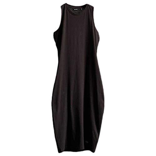 Superdry Damen Lily Crochet Insert Dress Kleid, Schwarz (Black 02A), M (Herstellergröße:12)