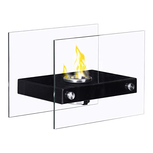 Big Save! Tangkula Tabletop Fireplace Portable Stainless Steel Indoor Outdoor Ventless Bio Ethanol F...