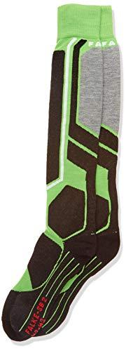 FALKE Herren, Snowboard Socken SB2 Merinowollmischung, 1 er Pack, Grün (Vivid Green 7231), Größe: 42-43