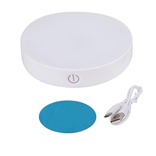 Wandlampe USB aufladbare Wandleuchte Sensor-Nachtlicht Auto On/Off for Schlafzimmer Treppen Schrank Schrank Licht (Color : White Light, Emitting Color : Dimmable USB Plug in)