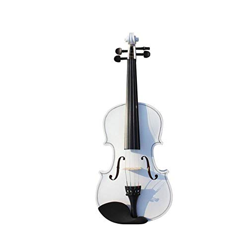 Qiaoxianpo01 Violine, Pure White Paint 1/8 1/4 2/4 3/4 Instrumente, 4/4 Manual Adult Children Anfänger Entry Test Instrument,Exquisite Verarbeitung (Size : 2/4)